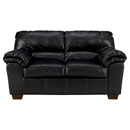 Ashley Furniture Signature Design Commando Contemporary Faux Leather Loveseat Black
