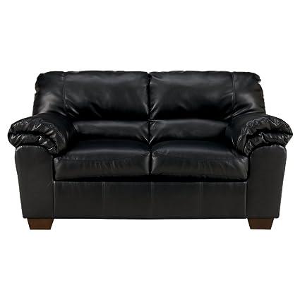 Superbe Ashley Furniture Signature Design   Commando Contemporary Faux Leather  Loveseat   Black
