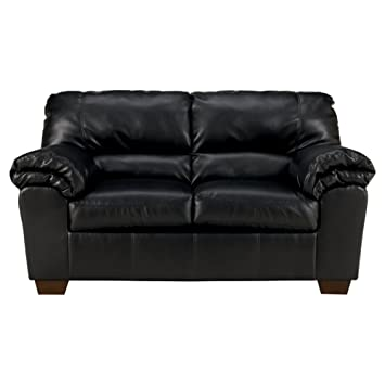 Pleasing Ashley Furniture Signature Design Commando Contemporary Faux Leather Loveseat Black Squirreltailoven Fun Painted Chair Ideas Images Squirreltailovenorg