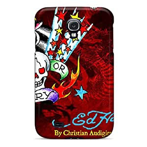 UvG2526kcOW Case Cover, Fashionable Galaxy S4 Case - Ed Hardy Red