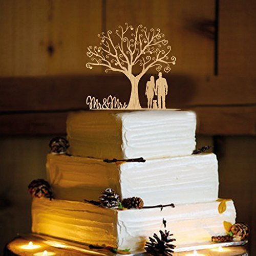 Rustic Wedding Cake Topper WA1001 product image
