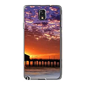 Shock-Absorbing Hard Phone Covers For Samsung Galaxy Note 3 (GCb15AwRK) Customized Trendy Colorful Sky Manhattan Beach Pictures