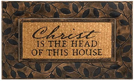 Dicksons Christ is Head Natural Brown 18 x 30 Inch Rubber Coir Anti Slip Doormat