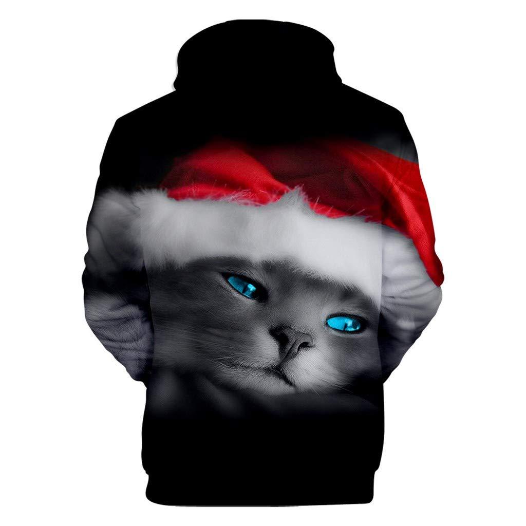 FRAUIT 3D Druck Hoodie Herren Weihnachts Kapuzenpullover Herbst Winter M/änner Sweatershirt Kapuzen Pulli Winter Hoodie Jumper Casual Kapuzenjacke Festlich Party Kleidung