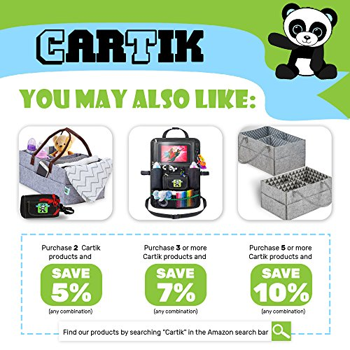 Baby Diaper Caddy Organizer Set of 2 – Nursery Basket with Handles – Baby Diaper Storage and Changing Table Organizer 2-Pack – Perfect Baby Shower Gift Basket for Newborn Girls and Boys by Cartik by Cartik (Image #3)