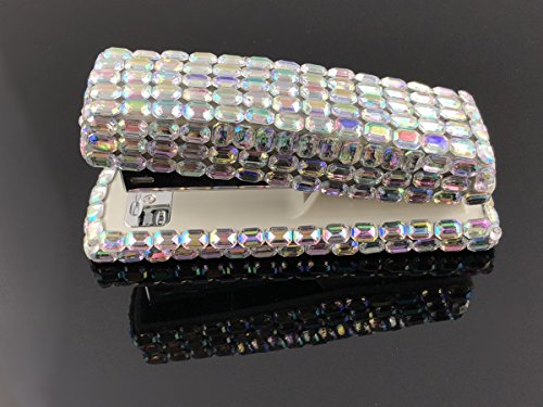 Blingustyle Bling Bling Iridescent Diamante Crystal Stapler for Office/Home (Bar Silver) by blingustyle