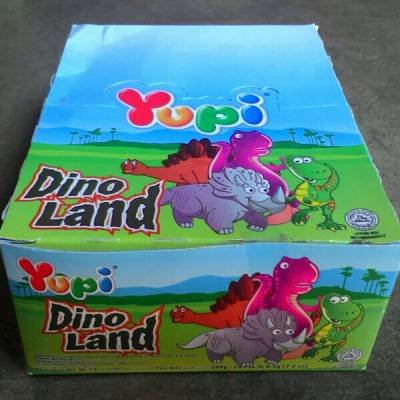 Yupi Gummy Candy Dino Land 1 box, 24-ct