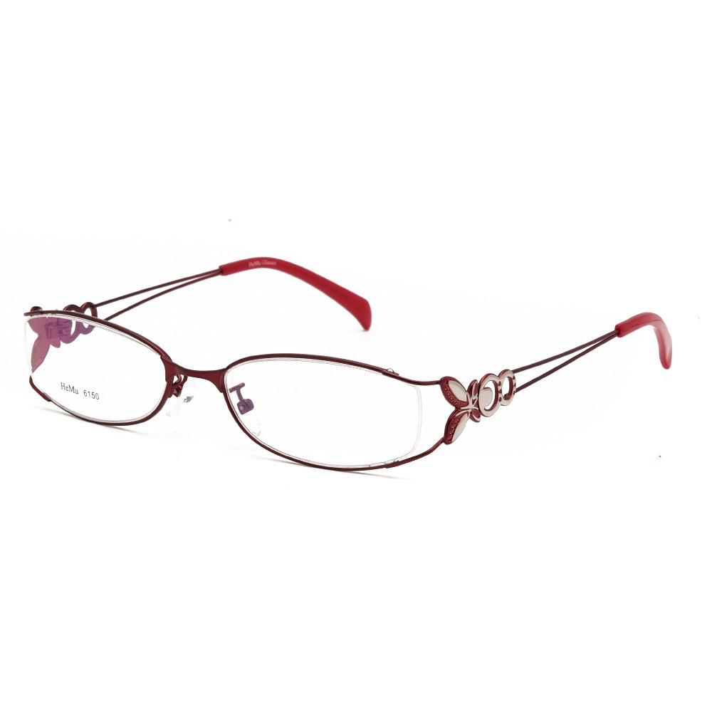 d939679deb0 Amazon.com  Langford Fashion Fadeless Eyeglass Frames For Women 52mm  Plastic Lens