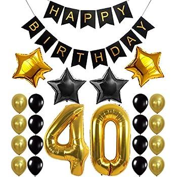 amazon com 40inch jumbo black 40 number balloons for 40th birthday