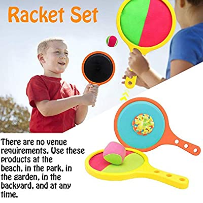 Toss & Catch Paddle Game Indoor Outdoor Sport Toys Summer Game Sports Sand & Beach Toys Fun Interactive Games Children Presents for 3-8 Years Old Boy: Kitchen & Dining