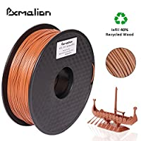Pxmalion Wood 3D Filament, 1.75mm, Dark Brown, Net Weight 1KG(2.2LB), Compatible with most 3D Printers from eTranslab Inc.