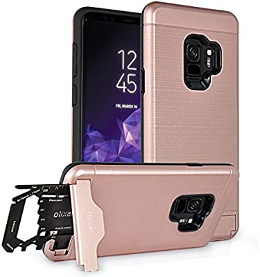 Samsung Galaxy S9 Tough Case With Multi Tool Card 26 In 1 Survival Card Kickstand Secure Credit Card Slot Olixar X Ranger Rose Gold Olx Rngr Gs9pl Rgld Buy Online At Best