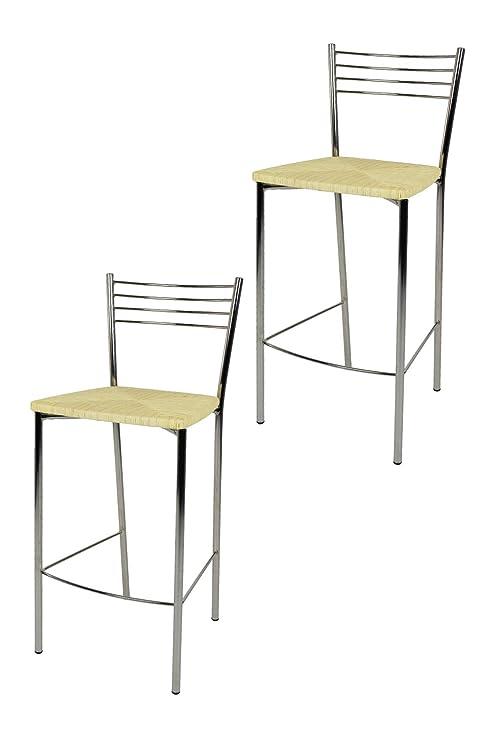 Tommychairs sgabelli Moderni e di Design - Set 2 sgabelli Alti Elena ...