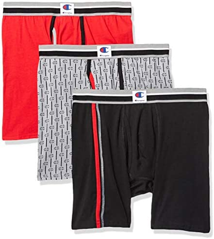 Champion Mens Everyday Comfort Cotton Stretch Knit Boxers 3-Pack Boxer Shorts