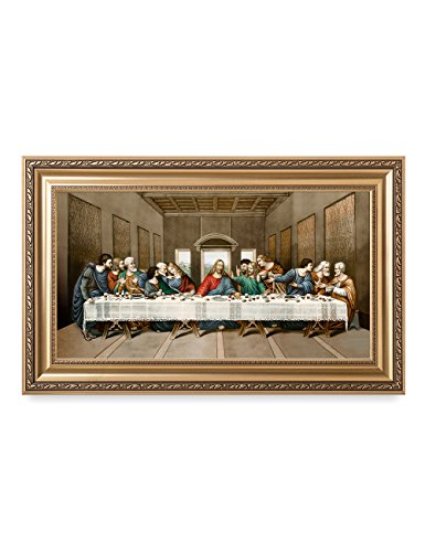DECORARTS The Last Supper, Leonardo Da Vinci Classic Reproductions, Giclee Print and Museum Quality Framed Art for Wall Décor, 30