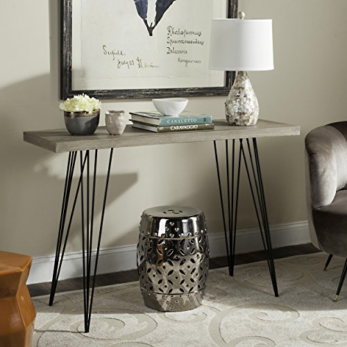 Safavieh Home Collection Wolcott White and Black Side Table, Seductive Rose