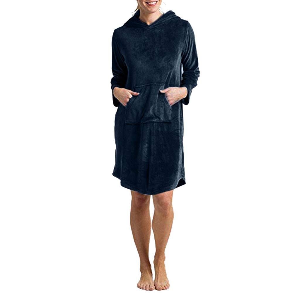 HULKAY Tops for Women Ultra Soft Hoodies Lightweight Stretch Velour, Oprah's Favorite Pajamas with Pockets Oprah' s Favorite Pajamas with Pockets