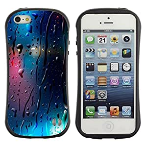 "Hypernova Slim Fit Dual Barniz Protector Caso Case Funda Para Apple iPhone SE / iPhone 5 / iPhone 5S [Vidrio reflectante Luces de Blur Night City""]"