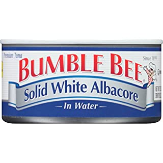 BUMBLE BEE Solid White Albacore Tuna in Water, Canned Tuna Fish, High Protein Food, 12 Ounce Can