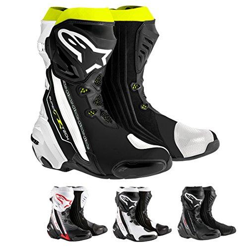 - Alpinestars Supertech R Men's Motorcycle Road Racing Boots (Black, EU Size 45)