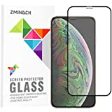 iPhone Xs Screen Protector, iPhone X Screen Protector, [Full Screen Coverage] Tempered Glass Film Compatible with Apple iPhone Xs/X, Black [2-Pack]
