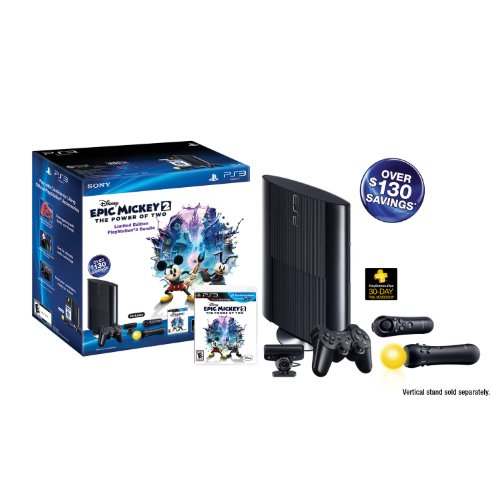 (PS3 Slim 250GB Epic Mickey: Power of 2 Bundle (PlayStation 3))