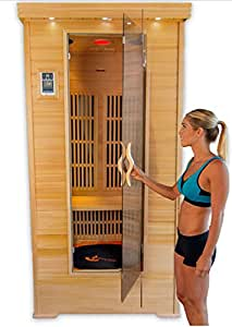 home personal sauna kit jump 2 person or 1 person exercise fitness infrared w. Black Bedroom Furniture Sets. Home Design Ideas