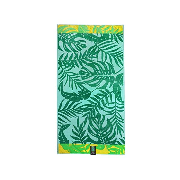 jilda-tex Telo mare 90 x 180 cm, asciugamano da spiaggia, asciugamano 100% cotone biologico, velour, spugna, GOTS… 6 spesavip