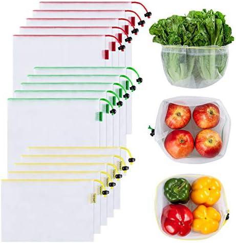 YIHONG Produce Reusable Drawstring Colorful