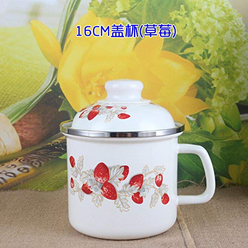 - Enamel instant noodle cup lunch box milk cup fresh bowl cup enamel cup big tea pot cylinder fast food cup with lid