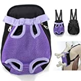Purple Travel Cat Pet Puppy Dog Nylon Net Front Carrier Backpack Bag Case X-Large Size