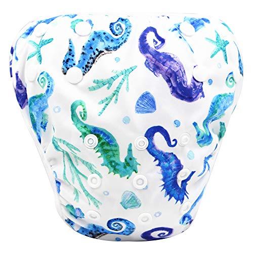 storeofbaby Baby Boys Girls Reusable Water Diapers Waterproof Cover Swim Pants White Green