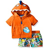 Wippette Baby Angry Fish Cover Up Set, Orange, 0-6
