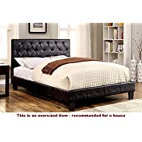247SHOPATHOME Idf-7795BK-CK Platform-Beds, California King, Black