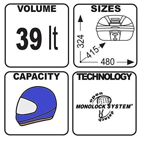 Top Case Yamaha YBR 125 Custom Givi Monolock E370N 39 l black