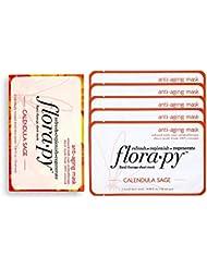 Florapy Beauty Anti-aging Sheet Aromatherapy Mask, Calendula Sage, 5 Count