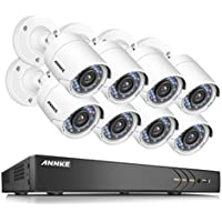 ANNKE 5 In 1 16-Channel 1080P Home Security Cameras System 8x HD 2.0 MP waterproof Night vision Indoor/Outdoor Cameras, Quick Remote Access Setup Free App-No HDD