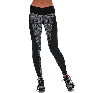 Weimay. Mujer Leggins Pantalones Deportivos,Costura Gris ...