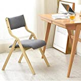 Folding Chair, Wooden Padded Dining Chair Office