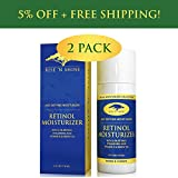 (2 Pack) 2.5% Retinol Moisturizer Cream for Face with Hyaluronic Acid, Green Tea, Vitamin A and E – Anti-Aging Moisturizer, Improves Skin Tone, Wrinkles, Reduce Skin Discoloration and Helps Sun Damage