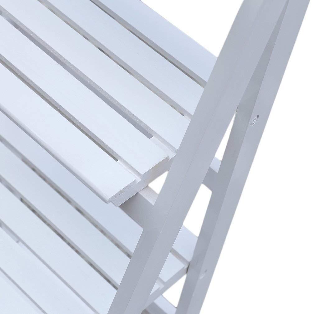Balcón Soporte de flor plegable, maceta de madera Creativa Estante ...
