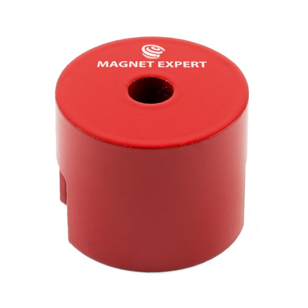 Magnet Expert® 32mm dia x 25.4mm thick Alnico Button Magnet c/w 5mm dia central hole - 4.8kg Pull (Pack of 1) Magnet Expert® ALBU3225M5-1