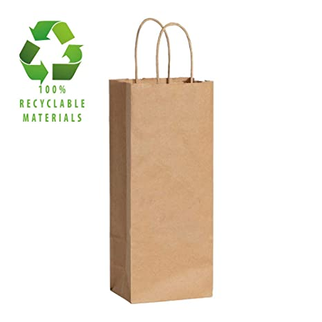 Amazon.com: Kraft bolsas de papel de 5,12 x 3,15 x 13