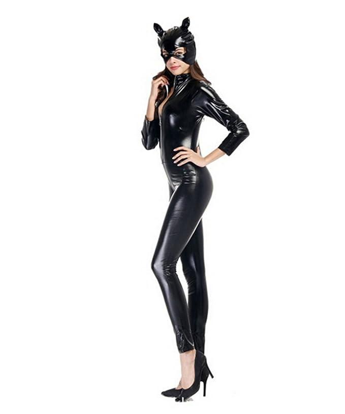 LifeWheel Catwoman Disfraz, Mujer Estirar Bodysuit para Cosplay ...
