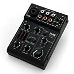 Pyle 3 Channel DJ Controller USB Audio / Sound Mixer Recording Interface with XLR and 3.5 mm Microphone Jack, Line In RCA, Rechargeable Battery, Mix Monitoring, for Professional / Beginners - PAD15MXU by Sound Around