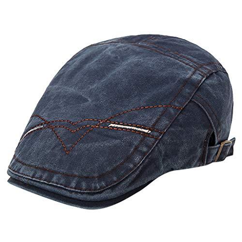 YEZIJINFashion Men and Women Old Retro Old Washed Beret Hat Painter Newspaperboy Hat
