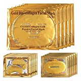 24K Gold Bio Collagen Crystal Face Mask + Eye Mask + Lip Mask Set, Anti ageing Anti-Wrinkle Dark Circles and Puffins Skin Whitening & Moisturizing Treatment