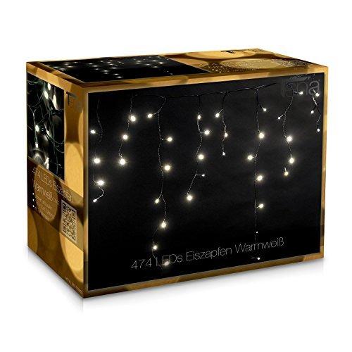 44 opinioni per Tenda luminosa con 474 luci a LED per interni ed esterni, per party,