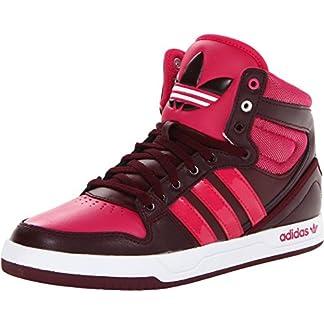 adidas Grade-School Court Attitude J Maroon/Pink-White Sneakers 6.5