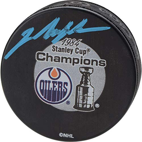 Mark Messier Edmonton Oilers Autographed 1984 Stanley Cup Champions Logo Hockey Puck - Fanatics Authentic Certified